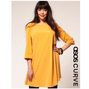 Yellow Asos Curve 60s Swing Dress